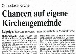 1998-1999. Aus dem Leben der Gemeinde in Halle.