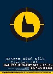 2008-2009. Aus dem Leben der Gemeinde in Halle.