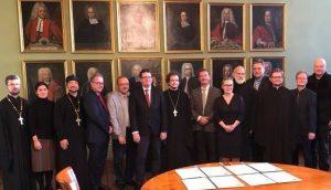 13.November 2018. Gruppe der russischen und deutschen Theologen in der orthodoxen Hauskirche in Halle